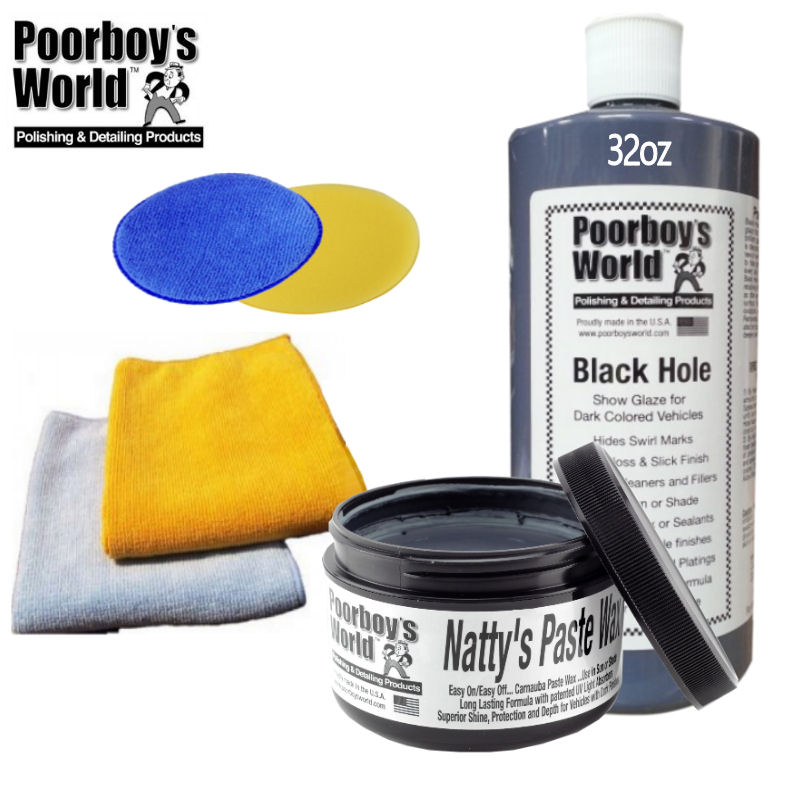 Poorboys 32oz Black Hole & Poorboys 8oz Natty's Paste Black